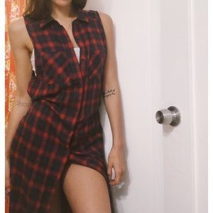 🥀SOLD✨ Forever 21 red plaid flannel dress M